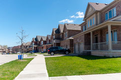 New private houses in Kitchener Royalty Free Stock Images