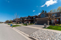 New private houses in Kitchener royalty free stock image