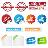 New product. And new arrival set of stamps,icons,stickers on white background.EPS file available Stock Image