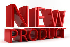 New Product. The words New Product written in Red 3D letters set against a white bckground Royalty Free Stock Images
