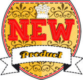 New product badge Stock Images