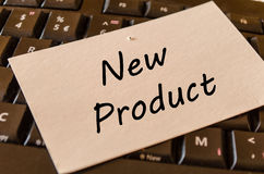 New product concept on keyboard background Royalty Free Stock Photography