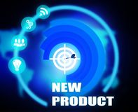 New product concept plan graphic. Background stock illustration