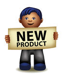 New product funny cartoon manager Royalty Free Stock Photos