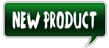 NEW PRODUCT on green dialogue word balloon. Illustration stock illustration