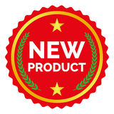 New product label. On white background, vector illustration Stock Images