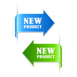 New product labels. On white background Royalty Free Stock Photography