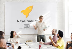 New Product Launch Marketing Commercial Innovation Concept Stock Images