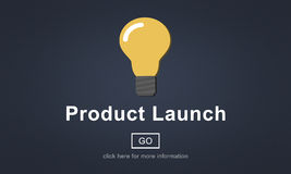 New Product Launch Marketing Commercial Innovation Concept Royalty Free Stock Images