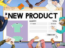 New Product Launch Promotion Marketing Services Concept royalty free stock images