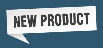 New product speech bubble. New product sign. new product stock illustration