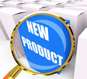 New Product Packet Indicates Newness and Advertisement Royalty Free Stock Photos