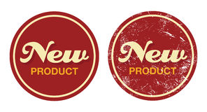 New product red retro badge - grunge style. New product in shop vintage label Royalty Free Stock Image
