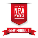New Product red ribbon Stock Photography