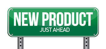 New product road sign illustration design Stock Photography