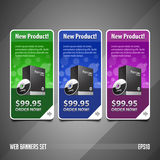 New Product Round Corners Banners Set Vector Colored 1 Royalty Free Stock Image