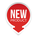 New Product round label. Vector Royalty Free Stock Image