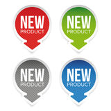 New Product round label Stock Images