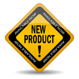 New product sign. On white background Royalty Free Stock Images