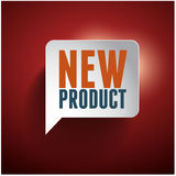 New product speech bubble tag Stock Image