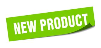 New product sticker. New product square sign. new product stock illustration