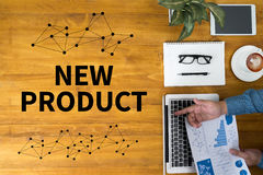 NEW PRODUCT think Innovation Launch Marketing Royalty Free Stock Photos