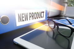 NEW PRODUCT think Innovation Launch Marketing royalty free stock photography