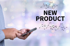 NEW PRODUCT think Innovation Launch Marketing Stock Image