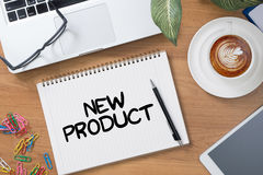 NEW PRODUCT think Innovation Launch Marketing Stock Images