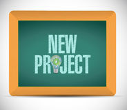 New project chalkboard sign illustration Royalty Free Stock Images