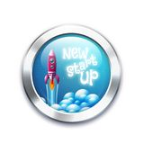 New project start up button Stock Photo