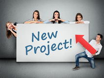 New project word on banner Royalty Free Stock Photos