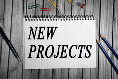 New Projects word Royalty Free Stock Photos