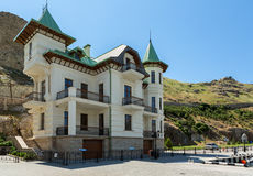 New promenade with restored old houses famous people in the past. Stock Image