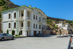 New promenade with restored old houses famous people in the past. Royalty Free Stock Images