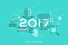 New prospects and predictions in internet courses, distance education, self-improvement Stock Images