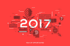 New prospects and predictions in internet courses, distance education, self-improvement Royalty Free Stock Image