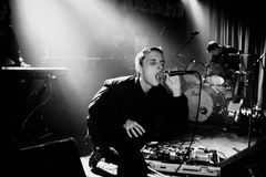 These New Puritans (band) performs at Discotheque Razzmatazz Royalty Free Stock Images
