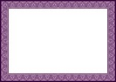 New 2015 purple certificate diploma frame Royalty Free Stock Images