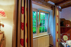 New pvc window in renovated room Royalty Free Stock Images