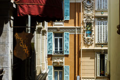 New pvc windows in old renovated houses. Design and construction Royalty Free Stock Photography