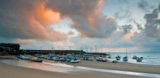 New Quay Harbour Stock Photo