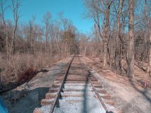 New Rail Road Track. On 1830`s Right of Way royalty free stock photo
