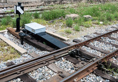 New railroad switch Royalty Free Stock Photos