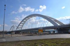 New railway bridge in Novi Sad, Serbia. New railway stock photos