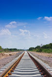 New railway construction. New railway construction in Countryside Royalty Free Stock Photo