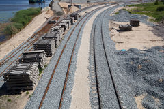 New railway construction Stock Images