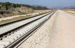 The railway is under construction Royalty Free Stock Photos