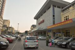 New railway station in Hanoi Stock Image