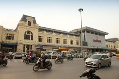 New railway station in Hanoi Royalty Free Stock Photos